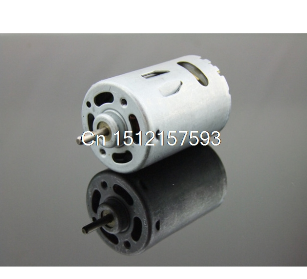 540 Micro DC Motor 6-24V 12V 10000RPM Metal Back Cover Powerful Strong Magnetic Carbon Brush Motor Electric Drill DIY Car Models