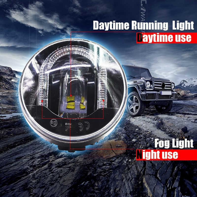 Cawanerl Untuk Ford Focus Fiesta Mustang Ranger Explorer Fusion C-max Falcon Styling Mobil LED Kabut Cahaya DRL Daytime menjalankan Lampu