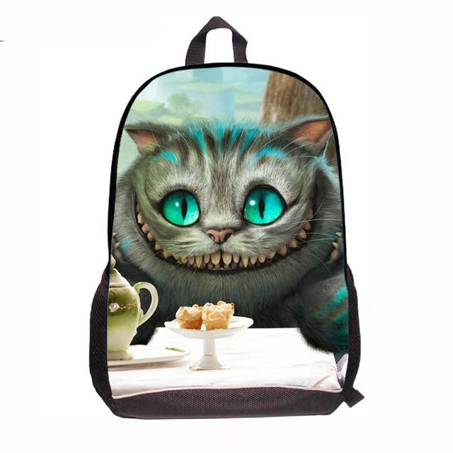 alice in wonderland backpack cute cartoon princess mochilas female pet cat rabbit printing kids school bag Top Quality