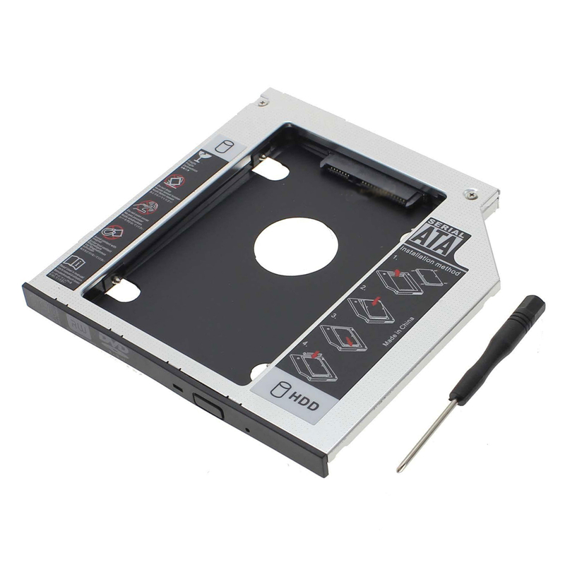 12 7mm SATA 2nd SSD HDD Caddy for HP ProBook 6560b 6565b 6570b Hard Disk Drive