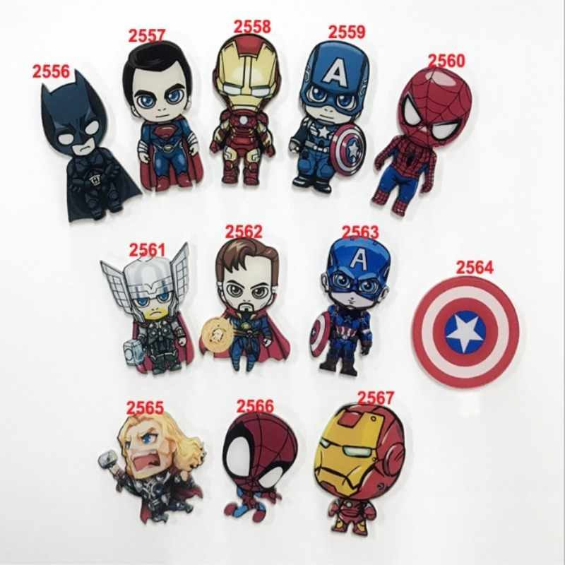 1 Pcs Film Avenger Spiderman Bros Superhero Captain America Deadpool Wonder Woman Pin Anak-anak Perhiasan Aksesoris