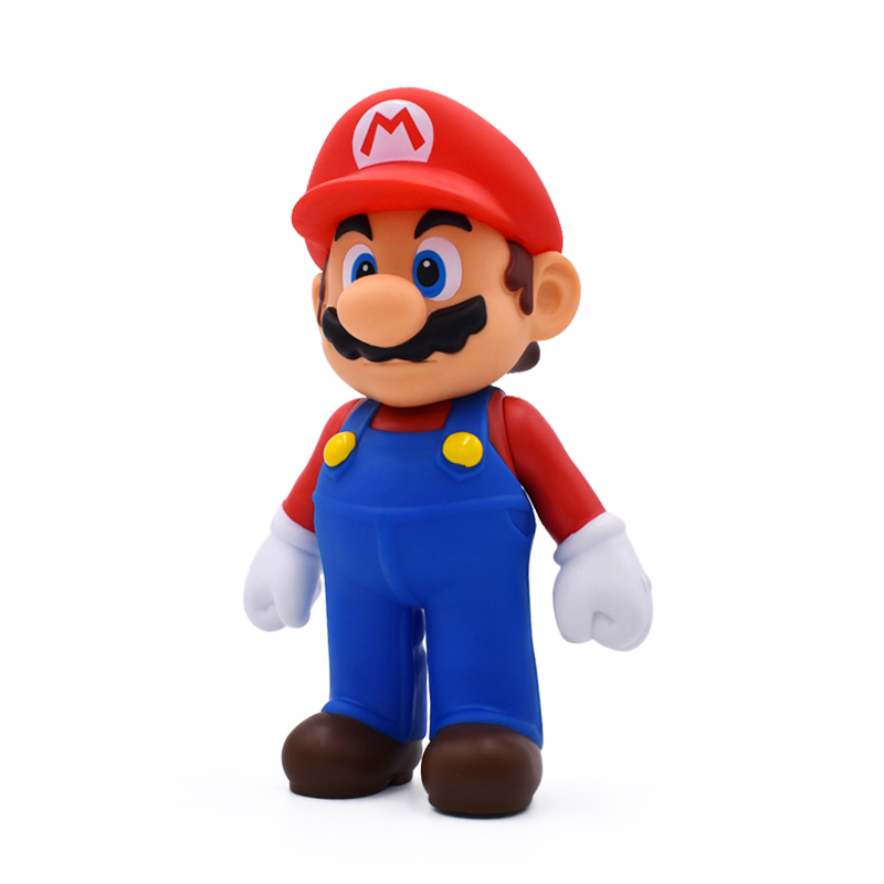 Super Mario Bros Mario PVC Action Figure Collection Toys Dolls 13cm Red Hat Model For Kids Birthday Gifts super mario bros kawaii mario pvc action figure 11cm high red collection model figurine brinquedos kids toys for children boys