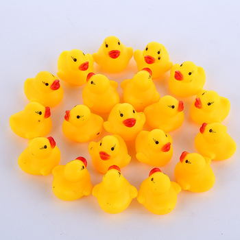 10 Pieces / Set Of Mini Duck Bath Toys Squeezing Music Baby Play Toys Ducklings Children Swimming Pool Water Toys 1