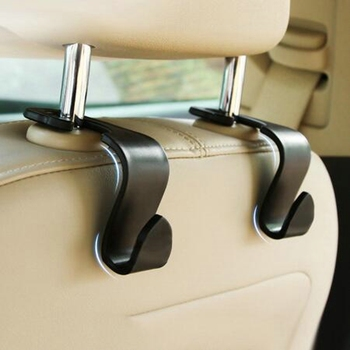2019 Universal Car Seat Back Hooks Hanger Headrest Mount Storage Hook Clips for Bag Purse Cloth Grocery Car Interior Accessories image