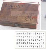 70pcs Set Hand Writing Alphabet Wood Stamp Number Stamps Symbol DIY Stamp Free Shipping