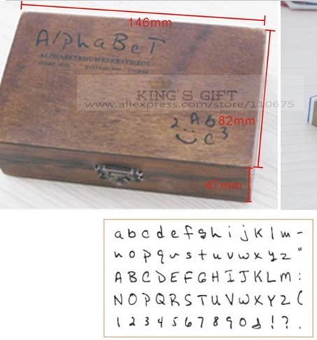 70pcs/Set Hand Writing Alphabet Wood Stamp, Number Stamps, Symbol DIY Stamp Free Shipping