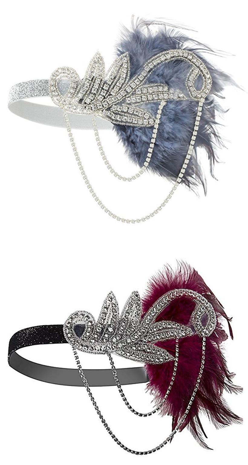 20s Headpiece Vintage 1920s Headband Flapper Great Gatsby (3)