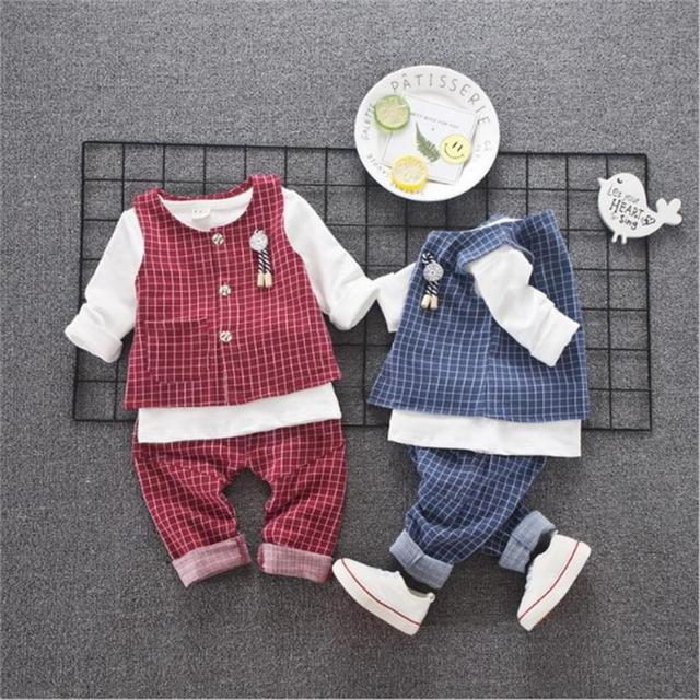 5a2d22ae8 Spring Autumn baby boys christmas outfits clothing sets for children vest  suit kids gentleman clothes formal