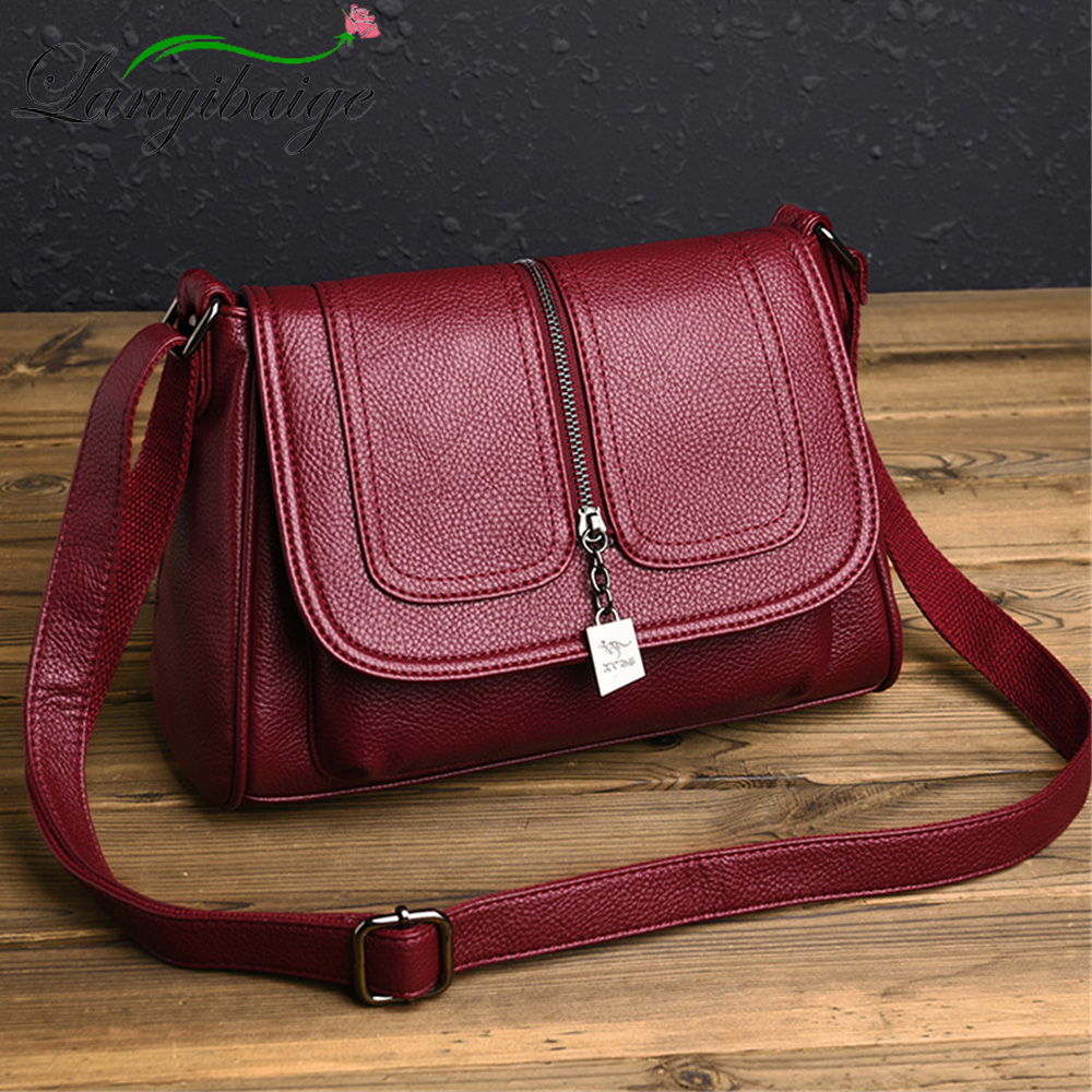New Soft Leather Crossbody Bags For Women Handbags Designer Women Shoulder Bags High Quality Women Messenger Bags Bolsa SAC 2019