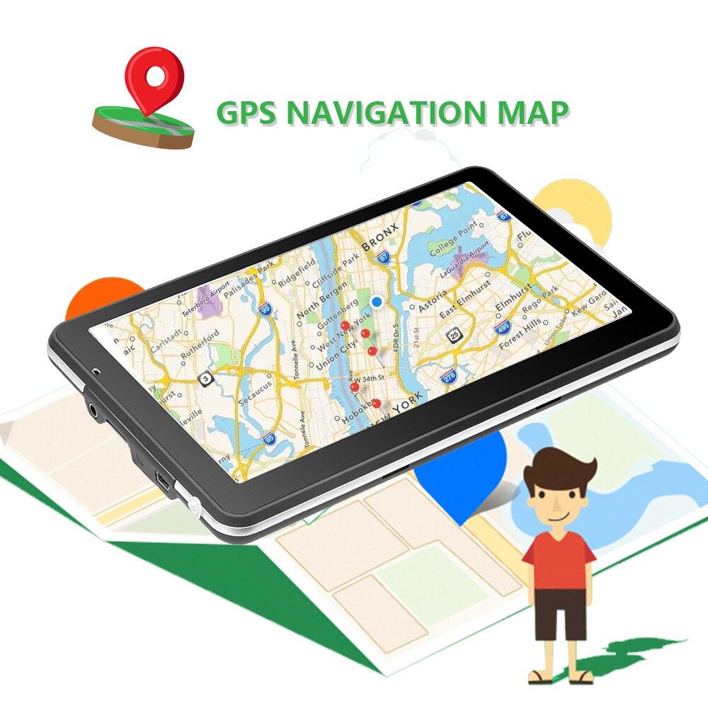 Podofo 7 Inch HD Car GPS Navigation Map Free Upgrade Navitel Europe Sat Nav  Truck Gps Navigators Automobile Vehicle Truck GPS (Super Deal Black Friday