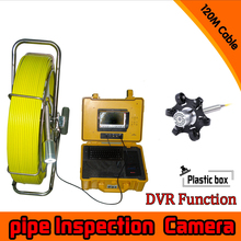 (1 set) 120M Cable Well Use 360 degree rotation camera with DVR function Sewer Inspection Camera waterproof underwater Fishing