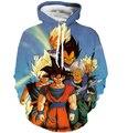 Clássico Hoodies Goku De Dragon Ball Z 3D/Vegeta Impressões Com Capuz Camisolas Das Mulheres Dos Homens de Anime Pulôveres Da Camisola Do Hoodie Outerwear