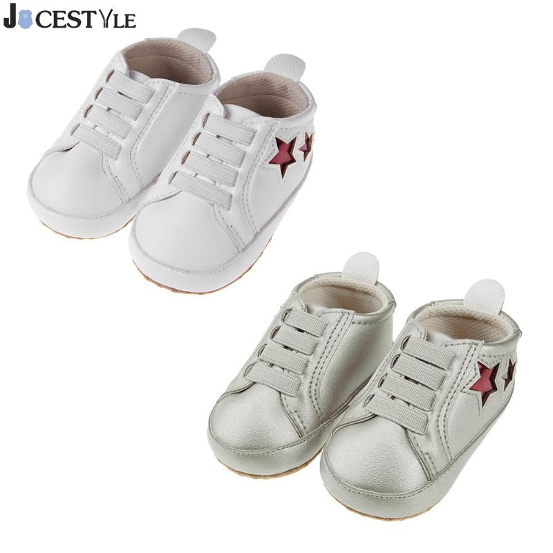 Pentagram Baby Boy Girl First Walkers Shoes Breathable Non-slip PU Infant Toddler Elastic Sneakers 3-6M 7-9M 10-12M