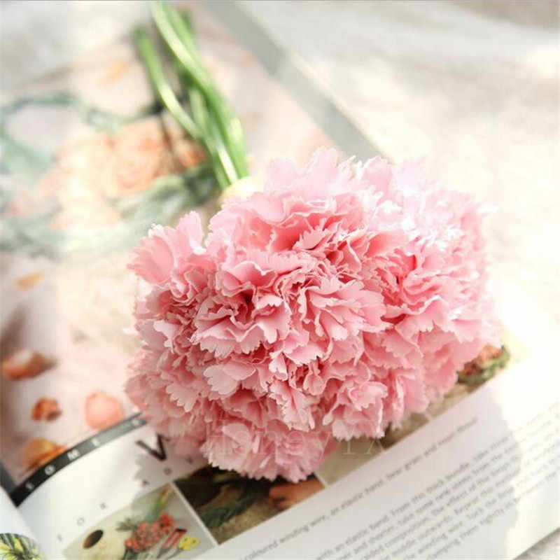 Carnation Artificial Fake Silk Flower Bouquet Wedding Mother/'s Day Home Decor