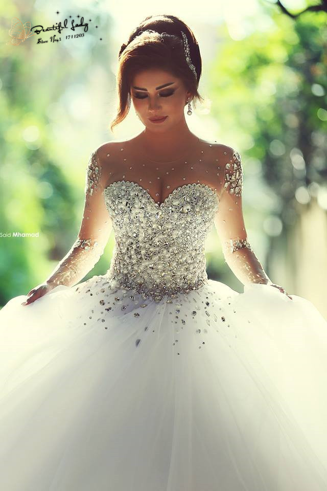 Dress Asia Picture More Detailed About Top Chic Luxury Satin Charming Design Crystal Wedding