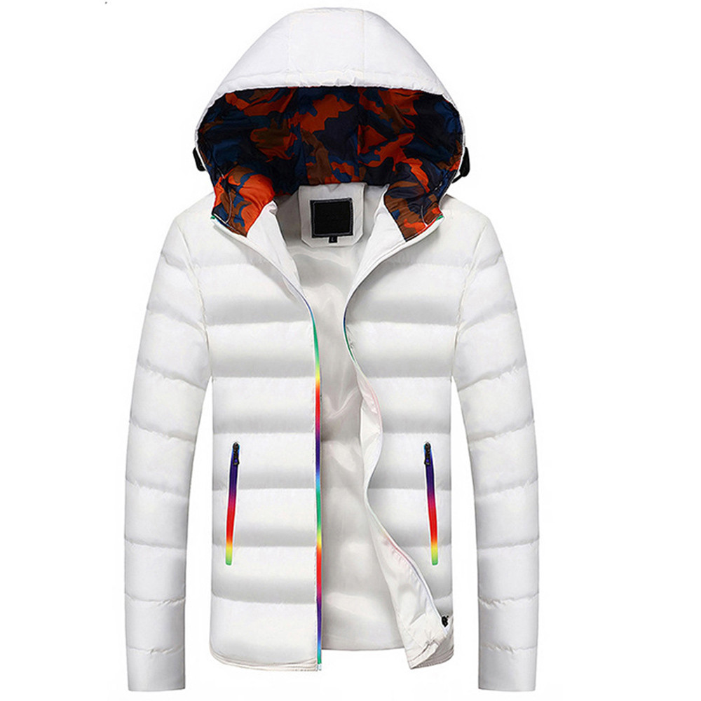 Winter Coat Men   Parka   Men Casual Warm Hooded Winter Color-changing Zipper Coat Outwear Top Blouse Manteau Homme Hiver