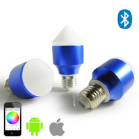 AC100V AC240V Magic Blue 6W E27 GU10 RGBW Led Light Bulb Bluetooth 4 0 Smart Dimmable