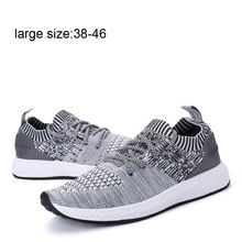 лучшая цена New Fashion Large Size Four Seasons Universal Flying Fabric Sports Shoes Men Sneakers Tennis Male Boots Mens Shoes Casual Mesh
