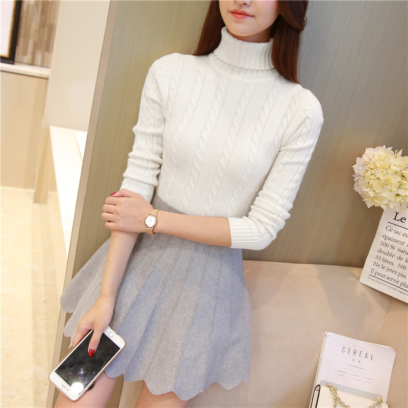 A long sleeved Pullover Sweater Korean twist 2017 new autumn and winter short shirt sweater slim girl FREE shipping