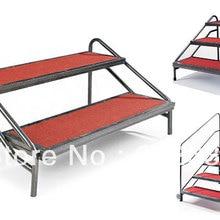 Ступеней лестницы для подвижной сцены, сверхмощная стальная рама, ковровая поверхность, прочная и прочная