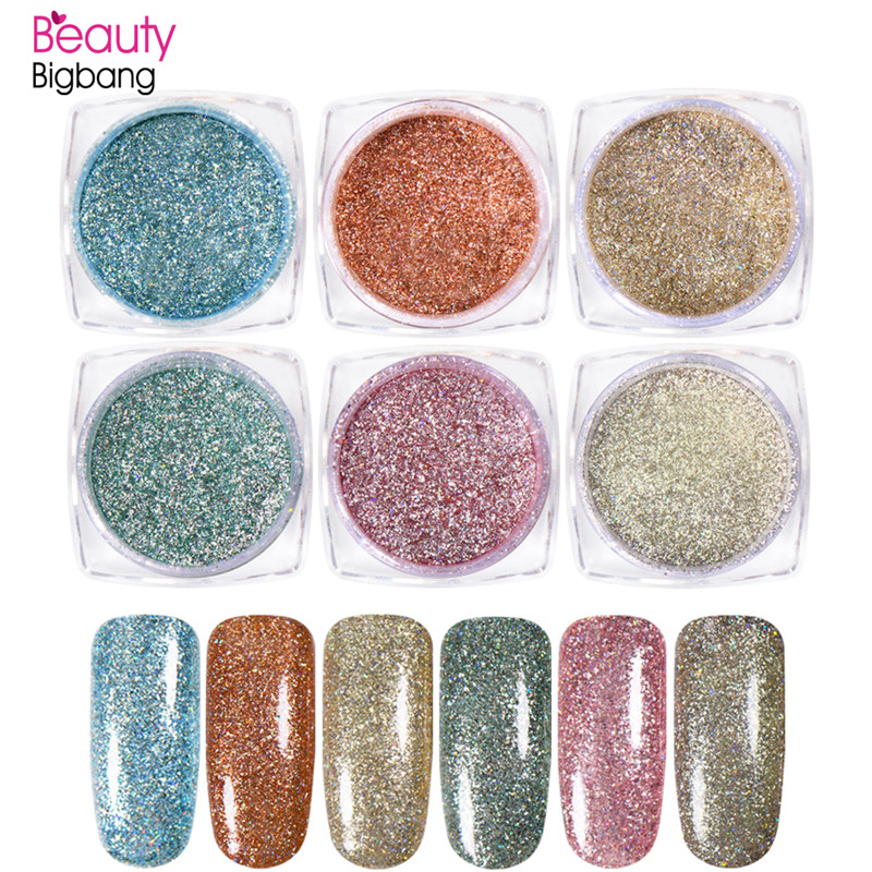 BeautyBigBang 1 Box 0.5g Shinning Sequins Nail Art Glitter Powder Dust Small Flakes Decorations For DIY Nails Glitters