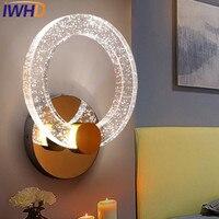 IWHD Kristall Ring Wandlamp LED Wandleuchte Moderne edelstahl Wandleuchte Wandleuchte Hause Beleuchtung Treppen Mode aluminium Lamparas