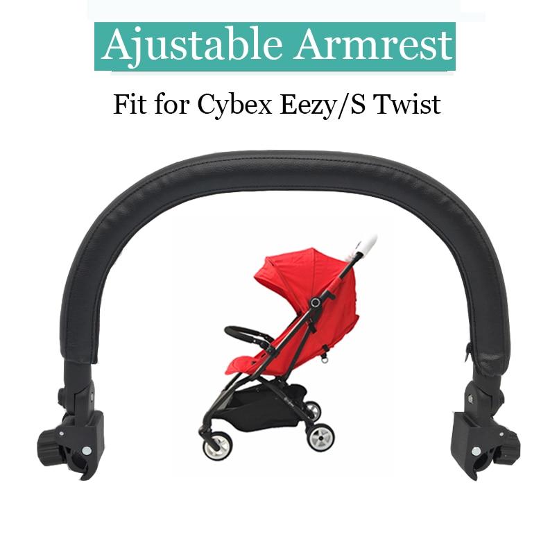 Baby Pram Stroller Handle Bar Grip Covers PU Leather Armrest Protective Case JD