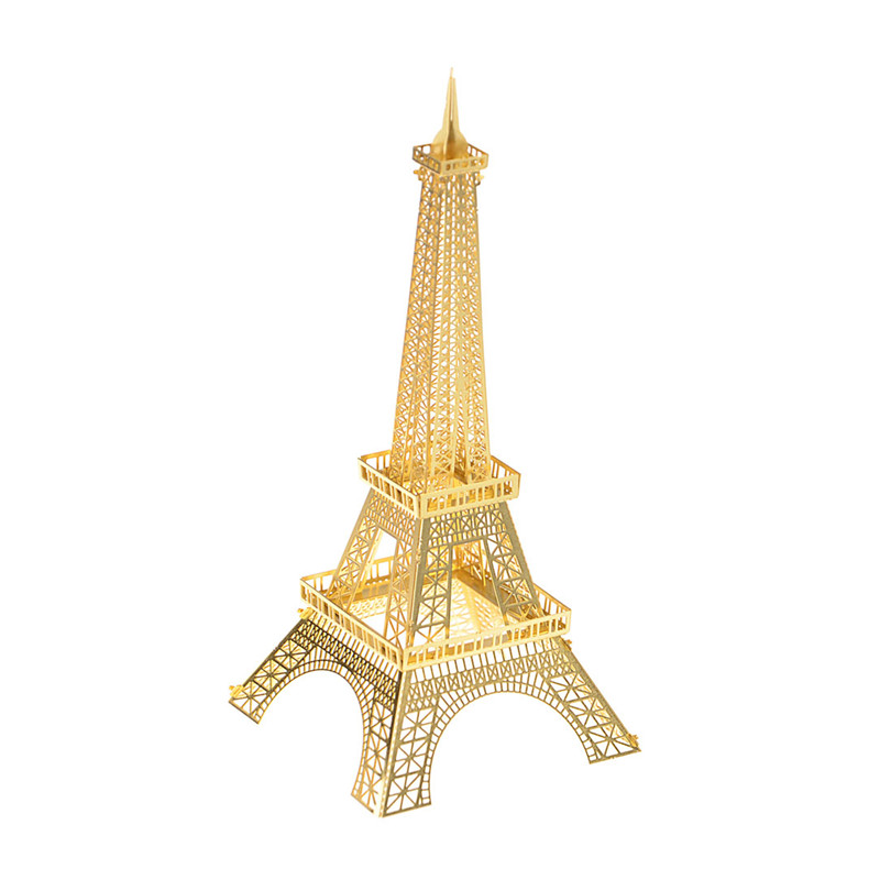 Eiffel Tower Building Puzzle For Boy 3D Metal DIY Assembly Kids Toys Creative Educational Toys Jigsaw Puzzles For Children Adult series s 3d puzzle paper diy papercraft double decker bus eiffel tower titanic tower bridge empire state building