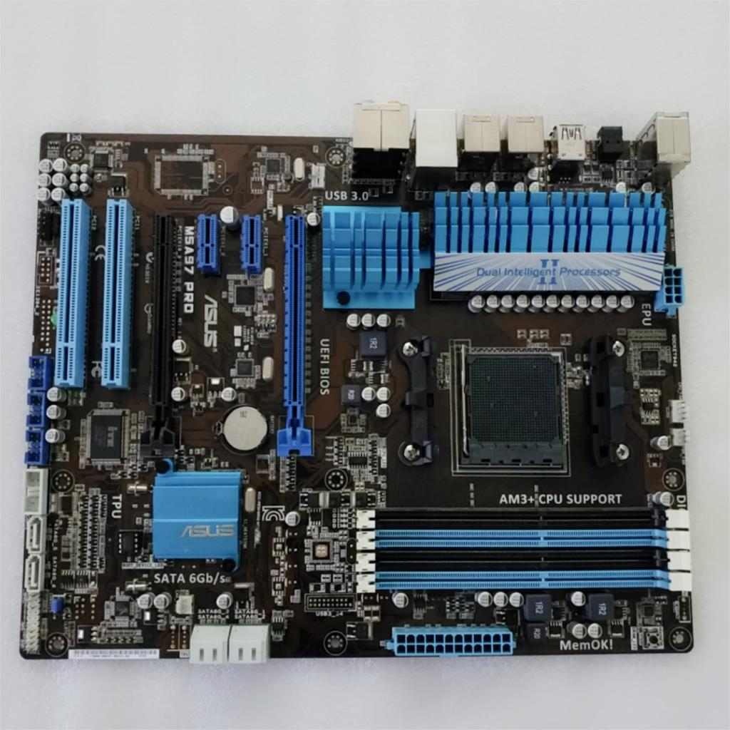 ASUS M5A97 PRO (970 chip) AM3+ supports USB3.0/SATA3 support bulldozer CPU 90%new