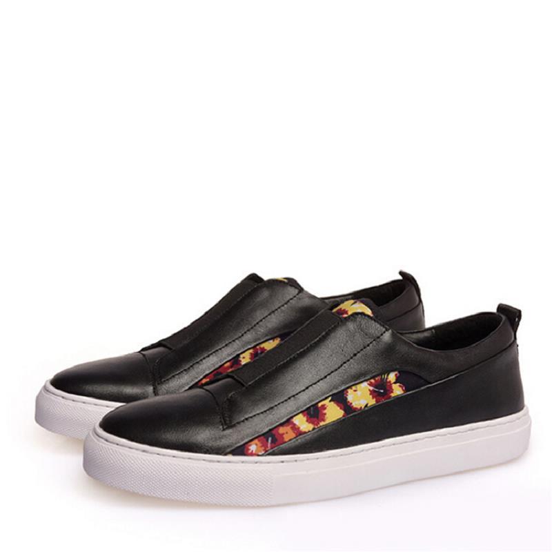De Vaca Zapatos Casual blanco Diseñador Marca Sapato Lujo Mycolen Negro Cuero Hombres Mocasines Patchwork IHw4qX