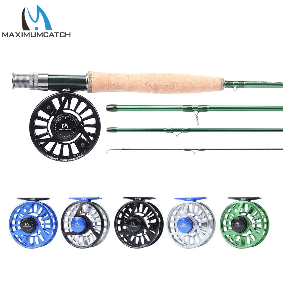 Maximumcatch 9ft Fly Fishing Rod Reel Combo IM10 36T Carbon Fiber Fly Rod & 3-10wt CNC Machined Fly Reel with Cordura Tube maximumcatch 9ft fly fishing rod tube fly rod reel case hold double 4sec rods cordura fly rod storage