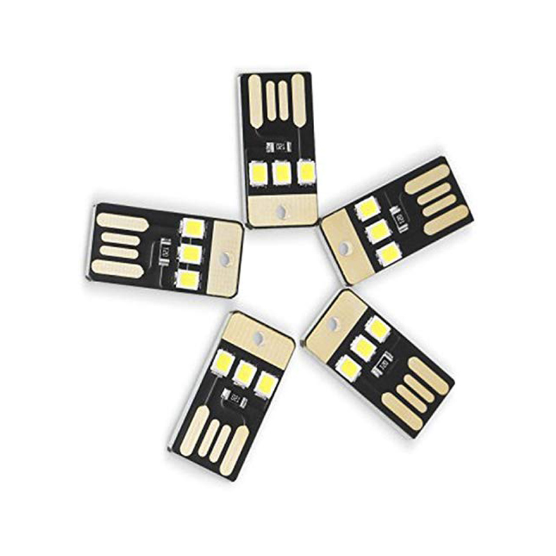 5Pcs Mini USB Power LED Light Night Camping Eqpment for Power Bank Computer Ultra Low Power 2835 Chips Pocket Card Lamp 1