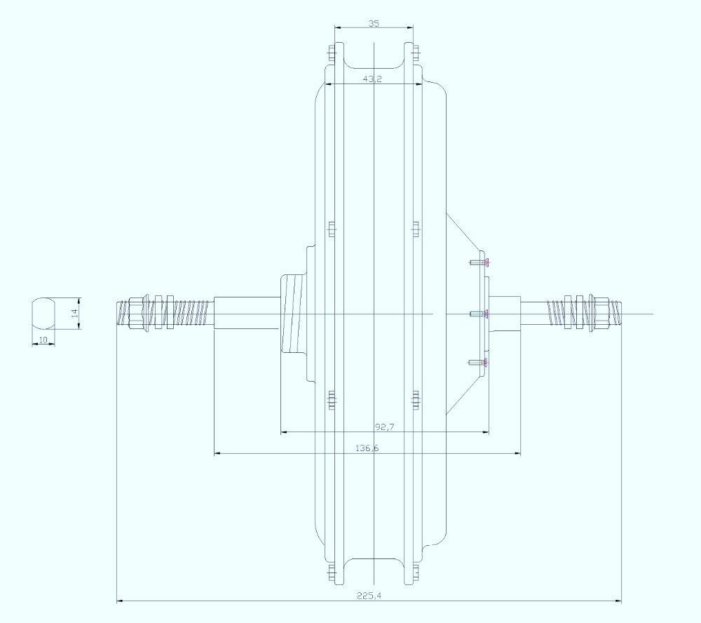 Risunmotor قوة 36 فولت 48 فولت 500 واط دراجة كهربائية