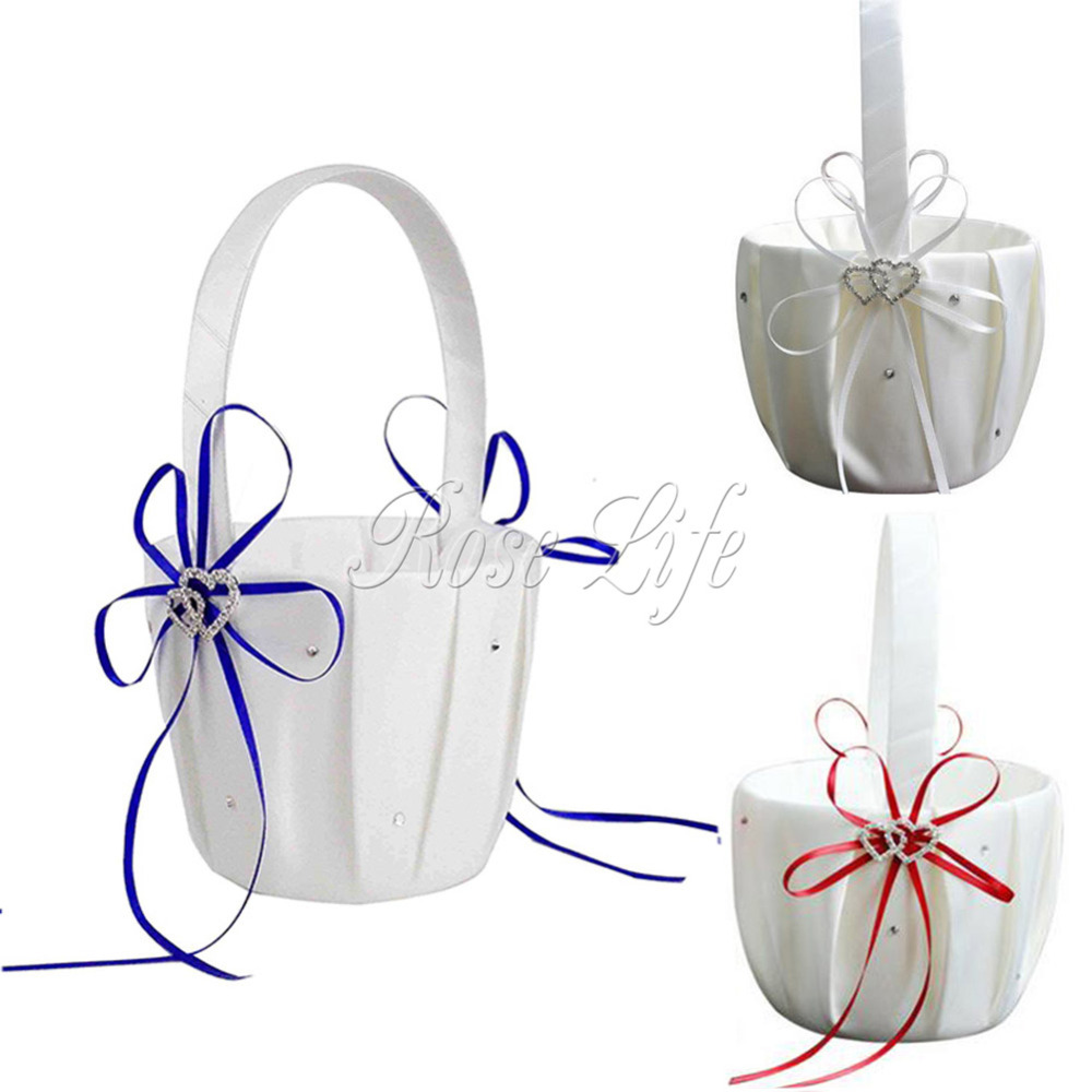 Heart Flower Girl Baskets for Bridesmaid Petal Wedding Accessories ...