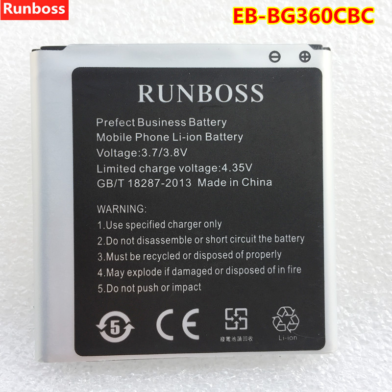 New High Quality Mobile Phone <font><b>Battery</b></font> EB-BG360CBC For <font><b>Samsung</b></font> J2 SM-G360 G3606 G3608 G3609 G360BT <font><b>G361</b></font> J200F/DS <font><b>Battery</b></font> 2000mAh image