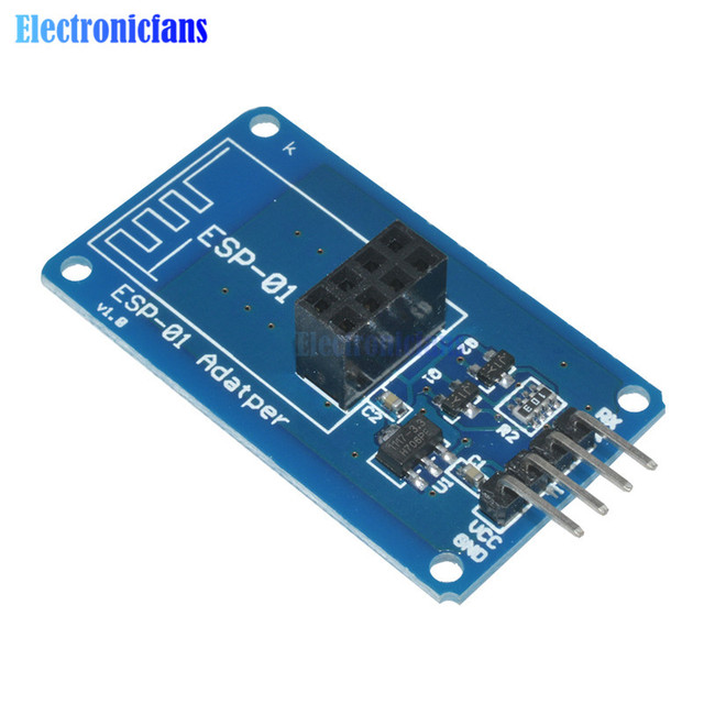 ESP8266 ESP-01 Serial WiFi Wireless Adapter Module 3.3V 5V Esp01 Breakout PCB Adapters Compatible For Arduino