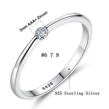 Round Rings with Sparking CZ Crystal Fashion Jewelry
