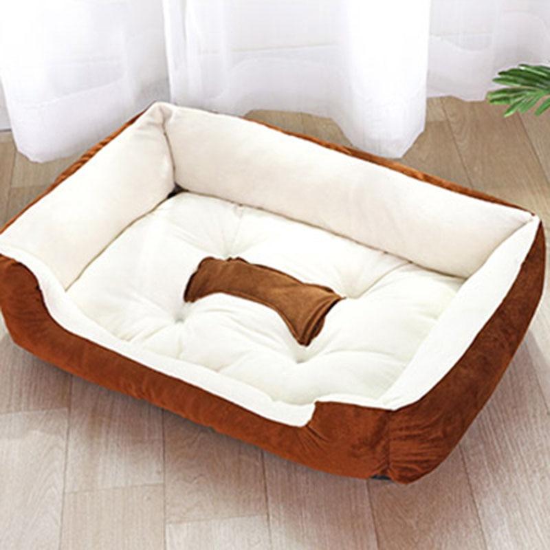 Plush Bone Dog Bed For Large Dogs – Playful Pet Shop