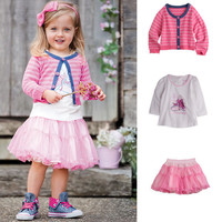 Clothes For Girls 4 Years Korean Fashion Clothing Long Sleeve Online Shop Clothing Kids Skirt Designs