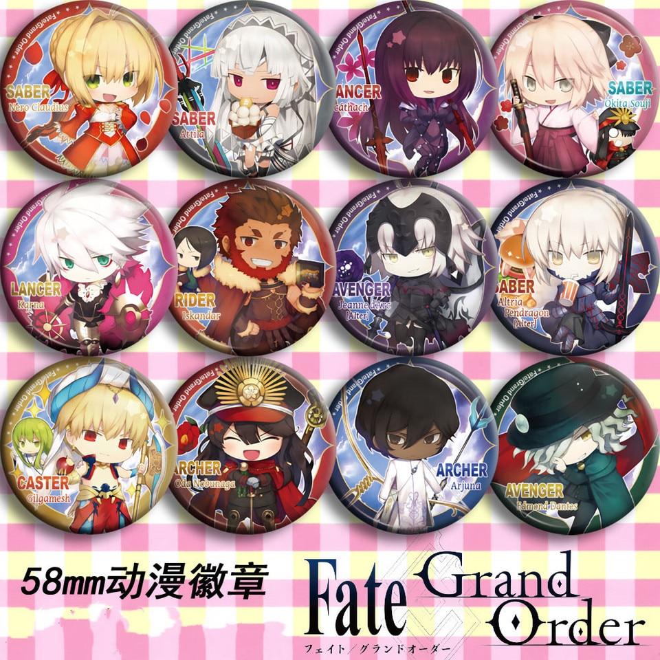 5pcs Sets Pio Fiore no Banshou Cosplay Badge Pin Button Brooch Bags Anime Gift#4