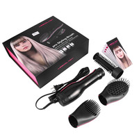 LESCOLTON Professional Hair Dryer 3 In 1 Hot Air Styling Cushion Brush With Ball Tipped Bristles