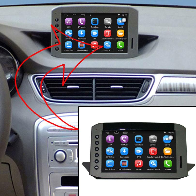 Lecteur Radio de voiture d'origine amélioré adapté au lecteur vidéo de voiture Peugeot 308 intégré à la Navigation Bluetooth GPS WiFi