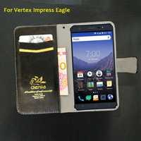 TOP New Vertex Impress Eagle Case 5 Colors Flip Leather Case Fashion Exclusive Phone Cover Credit