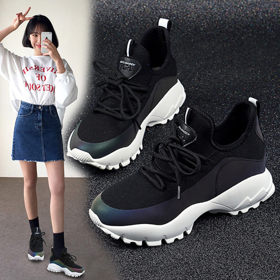 Occasionnels De Coloré Ulzzang Sports Confortable Vente Style Et Respirant Noir Femme Femmes Nouvelle Harajuku Chaude Chaussures Printemps wqzOnI6wF