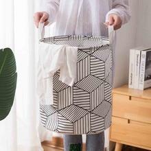 Корзина для белья, корзина для одежды, хлопковая водонепроницаемая сумка для стирки, складная корзина для хранения, корзина для белья, сумка для стирки
