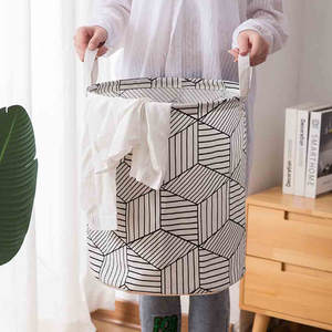 Basket Washing-Bag Storage Laundry-Hamper Foldable Waterproof Cotton Cesto-De-Roupa-Suja