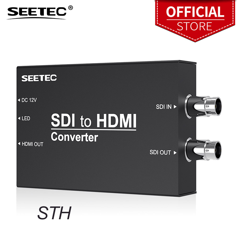 Seetec STH SDI to HDMI Converter Black Broadcast SDI Converter Heavy Metal Housing for HDMI Monitor SDI Monitor Projector CameraSeetec STH SDI to HDMI Converter Black Broadcast SDI Converter Heavy Metal Housing for HDMI Monitor SDI Monitor Projector Camera