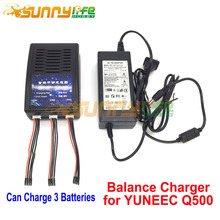 Q500 4K Charger 3 in 1 Battery Balance Charger Parallel Charging Adapter for YUNEEC Q500 RC Quadcopter