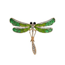 Trendy Zircon Dragonfly Brooches For Women Pins Insect Body Jewelry