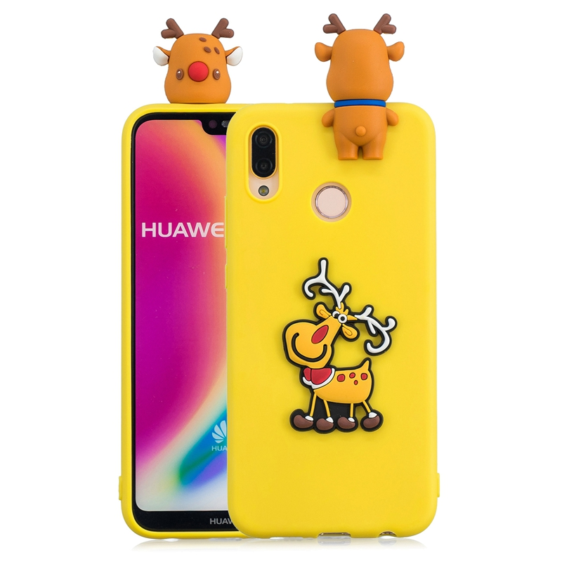 3D Case For Huawei P20 Lite Case Cute Christmas Elk Santa Claus Phone Cases Capinha Etui